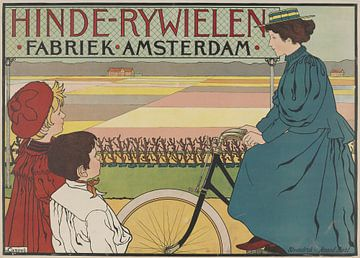 Hinde-Bicycles Factory Amsterdam, Johann Georg van Caspel van Vintage Afbeeldingen