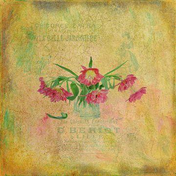 Stilleven met tulpen van Karin Schwarzgruber