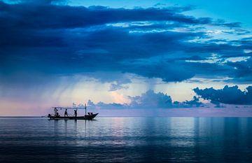 Bali, vissen op zee van Inge van den Brande