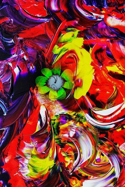 Abstrakt in Perfektion - Viel Glück van Walter Zettl