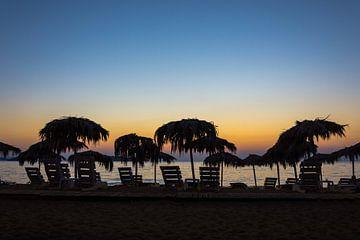 Sonnenuntergang auf Lesbos von Rinus Lasschuyt Fotografie