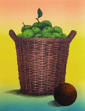 Mand Met Appels van Helmut Böhm