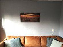 Kundenfoto: Deventer an einem nebligen Morgen bei Sonnenaufgang von Martin Podt, auf leinwand