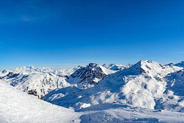 Panoram in de Franse Alpen in de winter van Sjoerd van der Wal