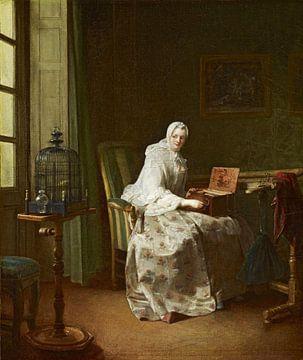 Dame mit Vogel-Orgel, Jean-Baptiste Siméon Chardin