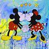 Mickey und Minnie Maus von Kathleen Artist Fine Art Miniaturansicht