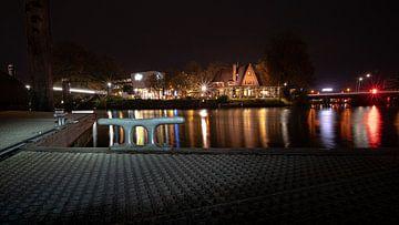 Boot steiger in stadscentrum van Zwolle, Overijssel van Fotografiecor .nl