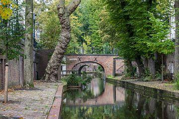 Wunderschön schöne reflektierende Oudegracht in Utrecht
