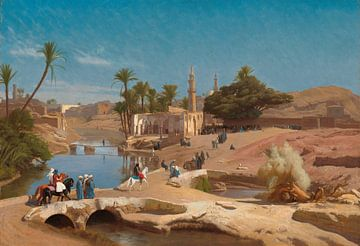 Vue de Medinet El-Fayoum, Jean-Léon Gérôme