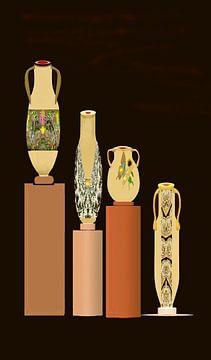 Geschilderd aardewerk van Annaluiza Dovinos