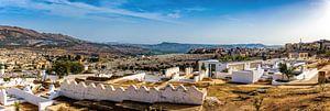 Panorama vanaf de heuvel in Fez, Marokko