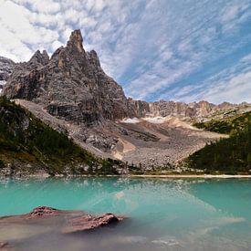 Lago Sorapíss - Veneto - Italië van Felina Photography