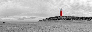 Vuurtoren Eiereland Texel b/w sur Texel360Fotografie Richard Heerschap