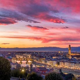 Prachtige zonsondergang in Florence van Teun Ruijters