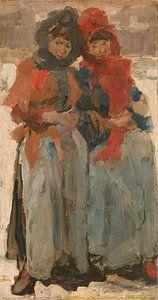 Twee meisjes in de sneeuw, Isaac Israels