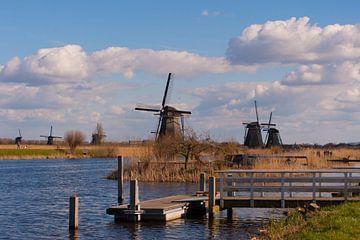 Windmill Landscape Kinderdijk van Brian Morgan