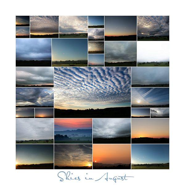 Skies in August  van Yvonne Blokland