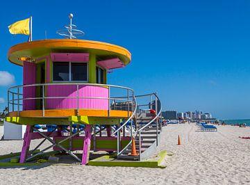 Miami Art Deco Rettungsschwimmer-Turm von Peter Leenen