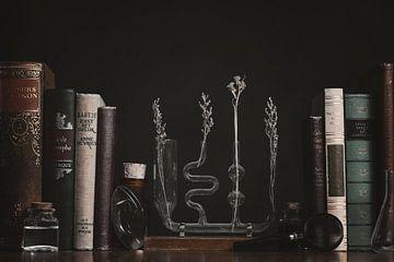 Alchemie Vintage Bibliotheek Stilleven van Nikki IJsendoorn