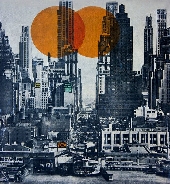 NEW YORK SKYLINE 1948 van db Waterman
