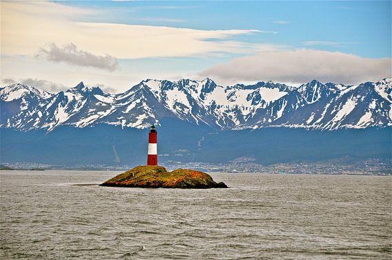 Vuurtoren in Patagonië in Argentinië van  Iduna vanwoerkom