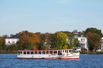 Dampfer, Außenalster, Alster, Herbst, Hamburg