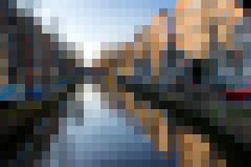 Aan de Amsterdamse grachten, pixel van Rietje Bulthuis
