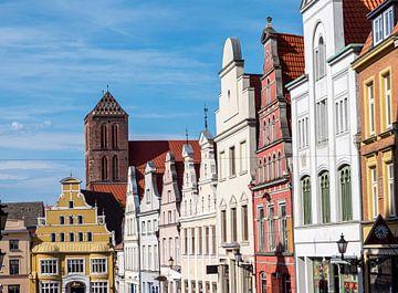 Oude binnenstad van Rostock in Mecklenburg-Vorpommern van Animaflora PicsStock