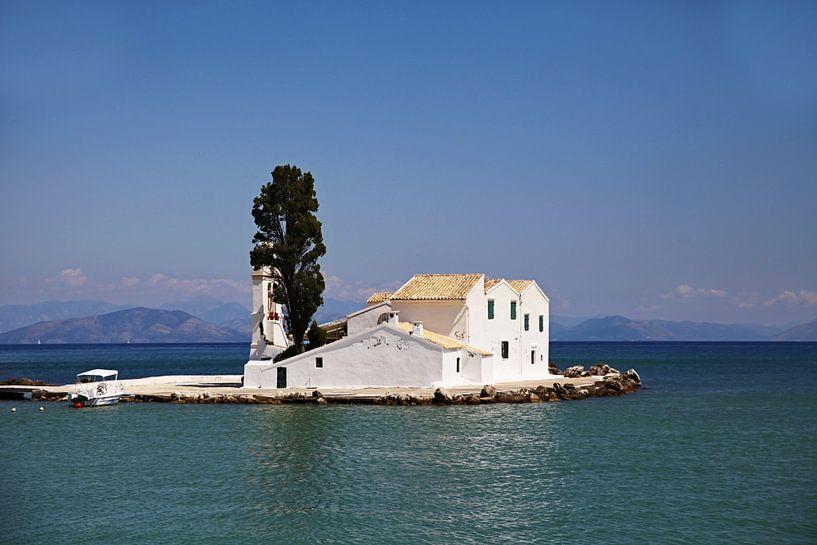 Klooster op Corfu van Elly Damen