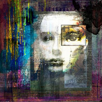 Portret van een vrouw van Annette Hanl
