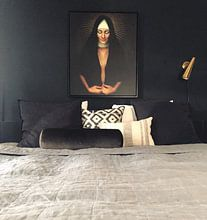 Klantfoto: Cracked Up van Marja van den Hurk, op canvas