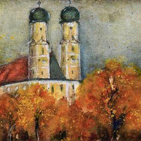 Herfst in parochiekerken - bedevaartskerk Gartlberg van Christine Nöhmeier