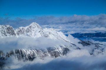 besneeuwde bergtoppen, alpen van Angelique Rademakers