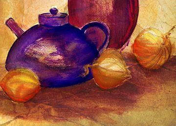 Krüge und Zwiebeln von Claudia Gründler