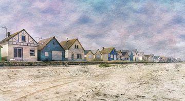Aquarel van de Franse kust Normandië von Rob van der Teen