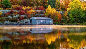 Boothuis in de Herfst van Joram Janssen