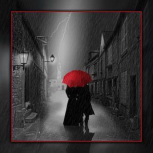 Samen onder de rode paraplu