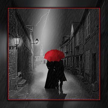 Gemeinsam unter dem roten Regenschirm von Monika Jüngling