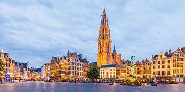 Der Grote Markt mit dem Dom in Antwerpen von Werner Dieterich