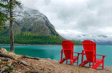 Blick auf den Minnewanka-See, Banff National Park, Alberta, Kanada von Mieneke Andeweg-van Rijn