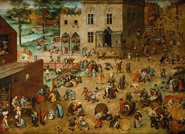 Die Kinderspiele - Pieter Bruegel the Elder
