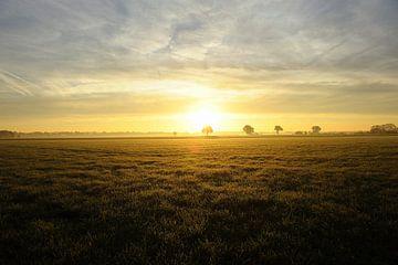 Zonsopkomst Brabants landschap van Bram Claassen