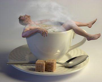 Koffie is als een warm bad.... van Erik Brons