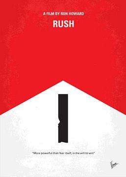 No228 My Rush minimal movie poster van Chungkong Art