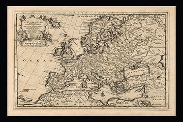Alte Europakarte aus der Zeit um 1725 von Gert Hilbink