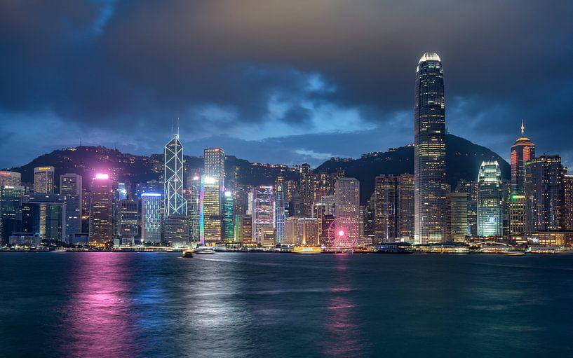 Hong Kong skyline van Lorena Cirstea