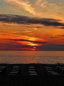 Sunset Katwijk aan Zee sur Jessica Berendsen