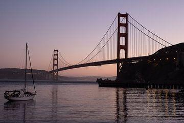 Golden Gate Bridge bei Nacht von John Faber