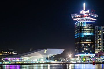 A'DAM Toren en filmmuseum Eye van Karin Riethoven