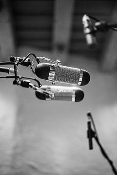 Opname microfoon muziek studio van Charlotte Van Der Gaag